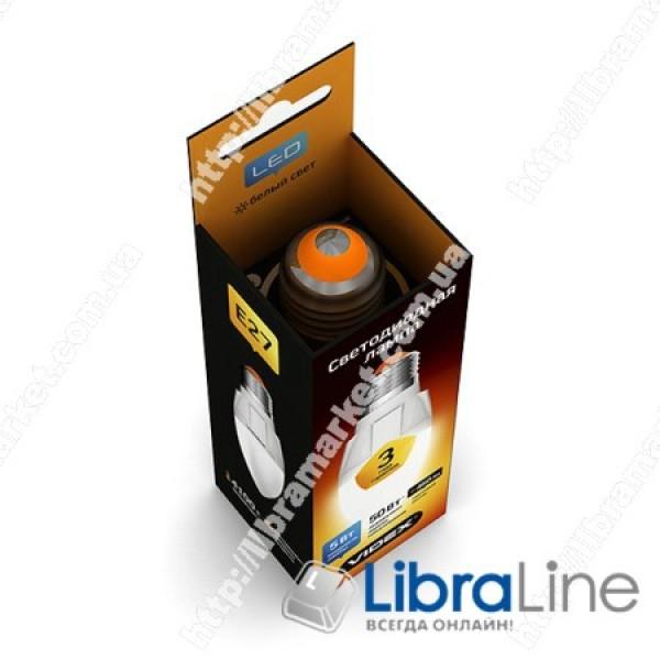 Светодиодная LED лампа VIDEX C37 5W E27 4100K 220V