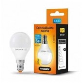 Светодиодная LED лампа VIDEX G45e 6W E14 3000K 220V