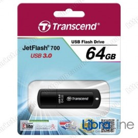 Флэш память Transcend JetFlash 700 64 Black TS64GJF700