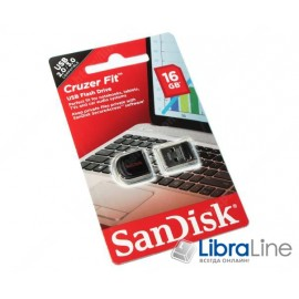 USB Флэш память SanDisk Cruzer Fit 16Gb Black SDCZ33-016G-B35