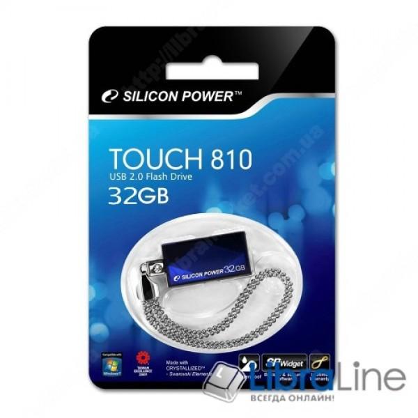 USB Флэш память SiliconPower Touch 810 32Gb Blue SP032GBUF2810V1B