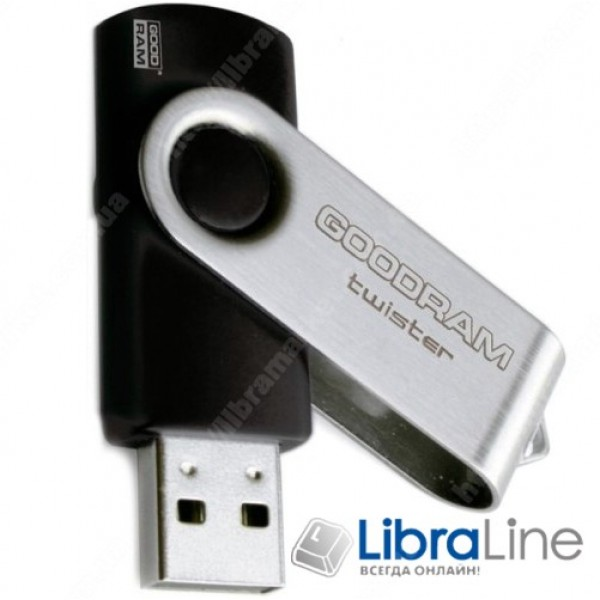 USB Флэш память Goodram USB 8GB UTS2 Twister Black UTS2-0080K0R11