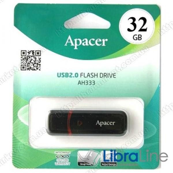 Флеш-память Apacer AH333 32Gb black AP32GAH333B-1