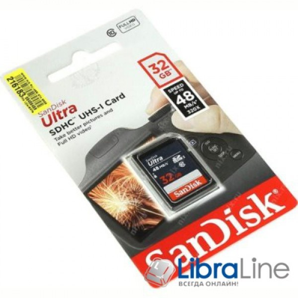 Карта памяти SDHC 32Gb Class 10 UHS-I SanDisk SDSDUNB-032G-GN3IN