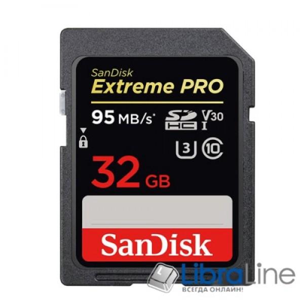 Карта памяти SDHC 32Gb Class 10 UHS-I SanDisk SDSDUNB-032G-GN3IN Флеш память