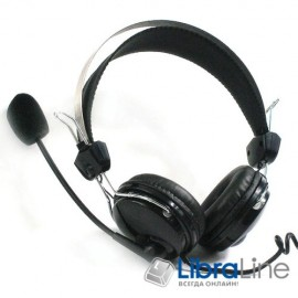 Гарнитура - наушники с микрофоном  A4-Tech HS-7P Black