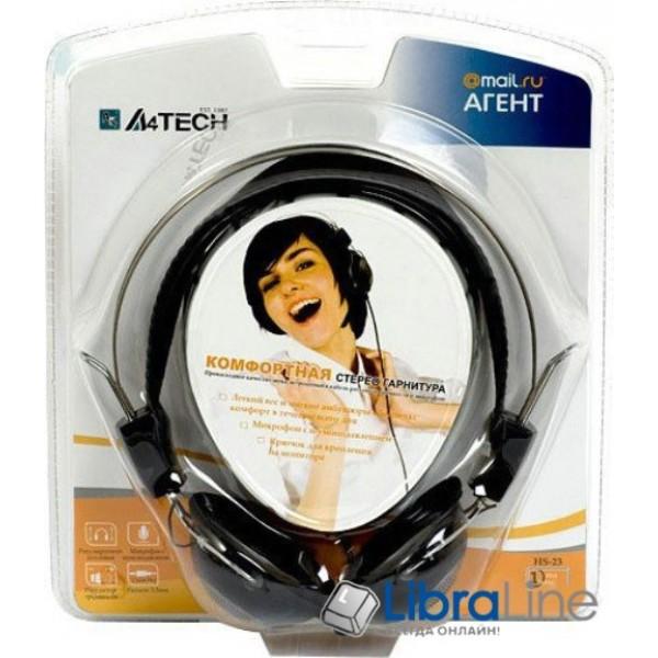 Наушники с микрофоном  A4-Tech HS-23  black - гарнитура