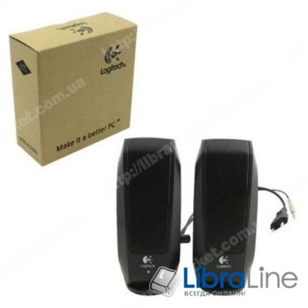 Колонки для компьютера 2.0 Logitech S120 Black, пластик, 2.3Вт, Retail, аккустическая система