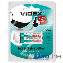 Аккумулятор  Videx HR03 / AAA 1100mAh double blister/2pcs 20 / 200