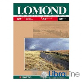 0102002 Фотобумага Lomond A4 Matte  / Matte 100л 100g 2ст