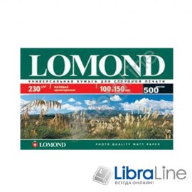 0102084 Фотобумага Lomond A6 Matte 500л 230g