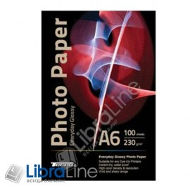 Фотобумага Tecno A6 Glossy 100л 230g Premium