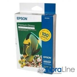 Фотобумага Epson A6 Premium Glossy 100л 255g C13S041822