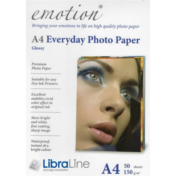 Фотобумага Emotion A4 Everyday Glossy 50л 150g EE150A4