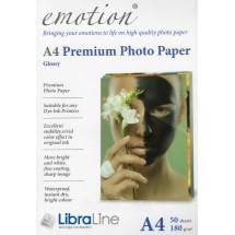 Фотобумага Emotion A4 Premium Glossy Color Box 50л 180g EP180A4