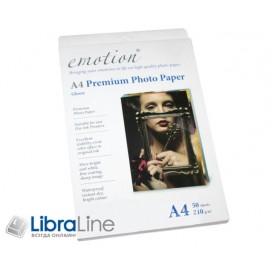 Фотобумага Emotion A4 Premium Glossy Color Box 50л 210g EP210A4