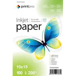 Фотобумага PrintPro A6 Glossy 100л 200g 50572/PGE2001004R