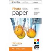 Фотобумага PrintPro глянец 230g, A4 PG230-50 44018 PGE230050A4