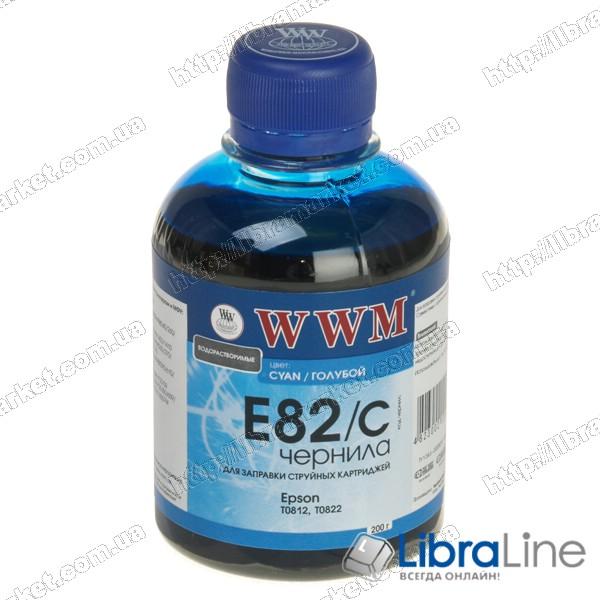 Чернила EPSON Stylus Photo R270 / R390 / R1400 / RX590 Cyan E82/C WWM 200г G223911