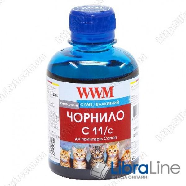 Чернила CANON CL511 / 513 / CLI521C / CLI426C 200г. Cyan WWM G220751 C11/C