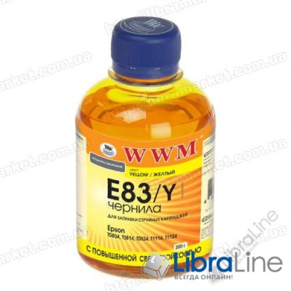 G224141 Чернила EPSON Stylus Photo P50 / R270 / R290 / RX615 / T50 / TX650 Yellow E83/Y WWM 200г.