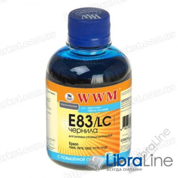 G224151 Чернила EPSON Stylus Photo P50 / R270 / R290 / RX615 / T50 / TX650 Light Cyan E83/LC WWM 200г.