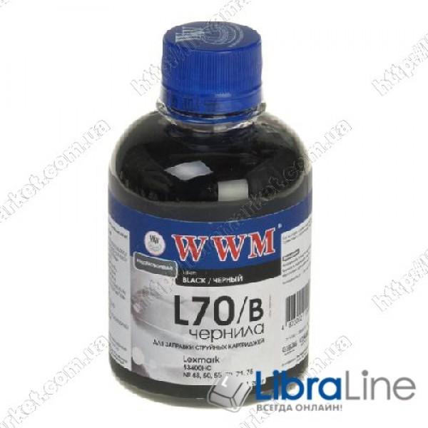 Чернила Lexmark 12A1970 Black L70/B  WWM 200г. Ink