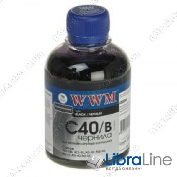 Чернила CANON PG-40 / PGI-5Bk Black WWM C40/B 200г G220651