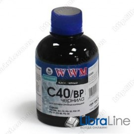 G220661 Чернила CANON PG-40 / 50 / PGI-5Bk / BCI-15  Black Pigmented WWM C40/BP 200г.