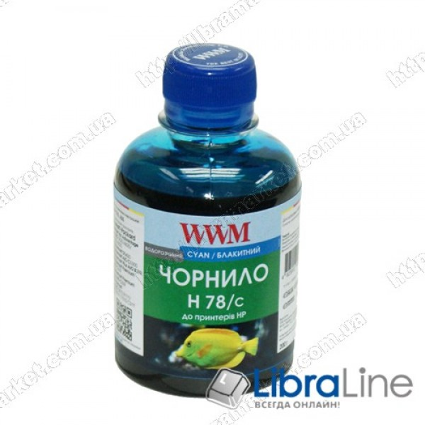 Чернила HP CB316HE/321HE Cyan H78/C WWM 200г Ink G225191