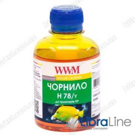 Чернила HP CB316HE/321HE Yellow H78/Y WWM 200г Ink G225211