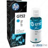 Оригинальная емкость с чернилами HP GT52, голубая M0H54AE