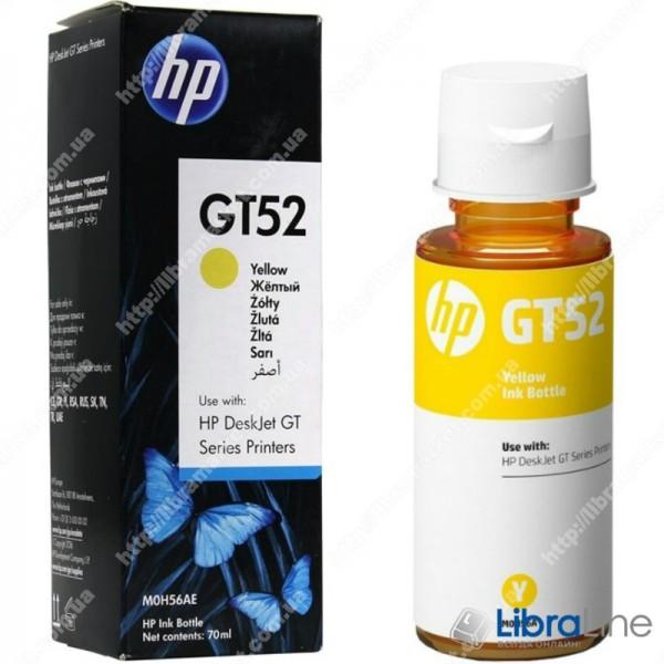 M0H56AE, Оригинальная емкость с чернилами HP GT52, желтая