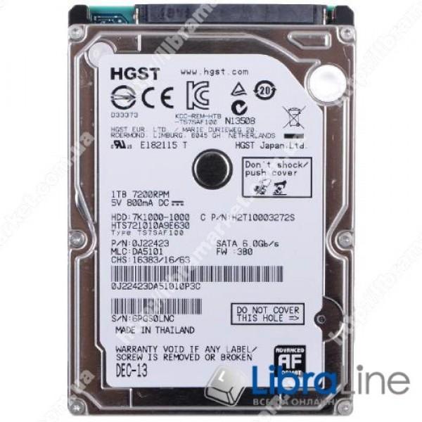 0J22423 / HTS721010A9E630  Жесткий диск, винчестер  2.5 SATA3 1Tb Hitachi