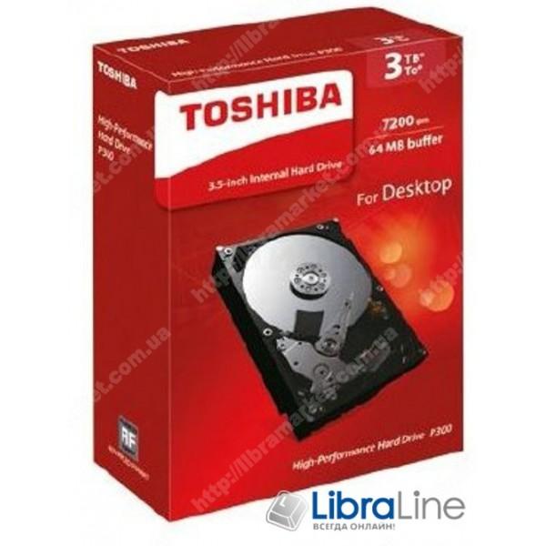 Жесткий диск, винчестер  3.5 SATA-3 500Gb Toshiba 7200 rpm, 64Mb HDWD105UZSVA