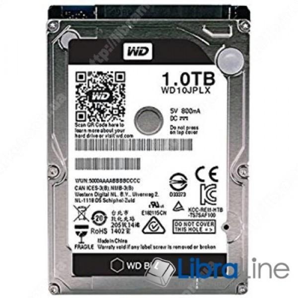 "Жесткий диск, винчестер 2.5"" SATA-3 1Tb Western Digital 7200 rpm, 32mb WD10JPLX"