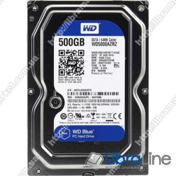 "Жесткий диск, винчестер 3,5"" SATA-3 500Gb Western Digital 5400 rpm 64MB WD5000AZRZ"