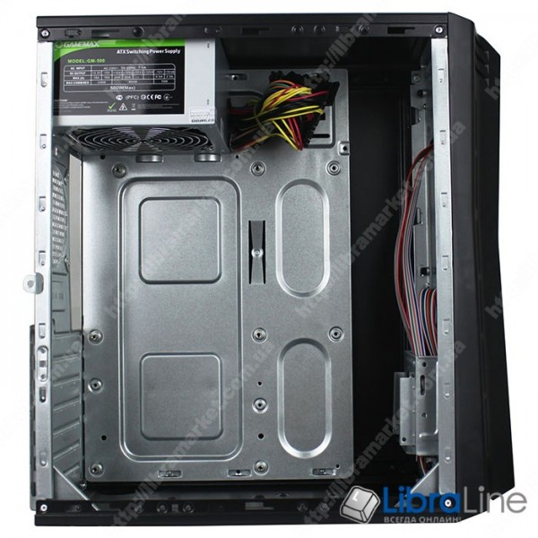 Корпус ATX GAMEMAX Metro3-500w black, 500W