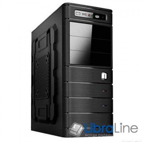 Корпус ATX Merlion Mirage 6312 black, 400W 12cm