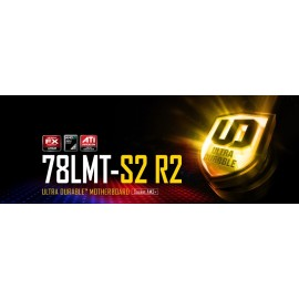 Материнская плата AM3+ Gigabyte GA-78LMT-S2R2 AMD 760G/DDR3-1333MHz*2 / SATA*6 / video / Raid / GLan / 7.1 / mATX