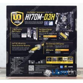 Материнская плата 1151 Gigabyte GA-H170M-D3H DDR3 H170 / DDR3-1866*4 / D-SUB, DVI-D, HDMI / mATX