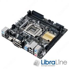 Материнская плата 1151 Asus H110I-PLUS H110 / DDR4*2 / HDMI / DVI / VGA / mITX