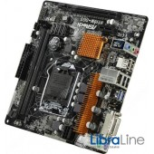 Материнская плата 1151 ASRock H110M-DGS без упаковки H110/2*DDR4 / DVI / mATX