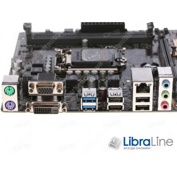 Материнская плата 1151 Asus H110M-K H110 / 2*DDR4 2133 / Gigabit LAN / mATX