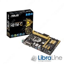 Материнская плата 1150 Asus H81M-C H81 / DDR3-1600MHz*2 / SATA*2 / SATA3*2/video / GLan / 7.1 / mATX