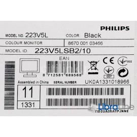 "Монитор 21,5"" Philips 223V5LSB2/10 black  VGA"