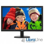 "Монитор 24"" Philips 243V5QHSBA/01 black  LED MVA,VGA, DVI, HDMI"