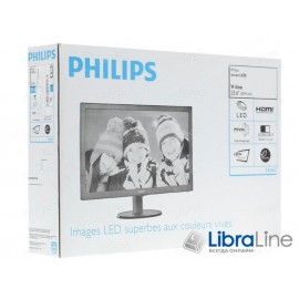 "Монитор 24"" Philips 243V5QHSBA/01 black  LED MVA,VGA, DVI, HDMI"