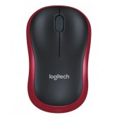 Мышь беспроводная Logitech M185 Black-red (wireless) 910-002240