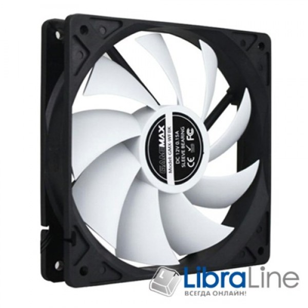 Вентилятор охлаждения Case GAMEMAX GMX-WFBK 120*120*25mm white